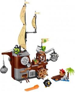 Đồ chơi Lego Angry Birds Piggy Pirate Ship 75825 – Tàu cướp biển của siêu trộm
