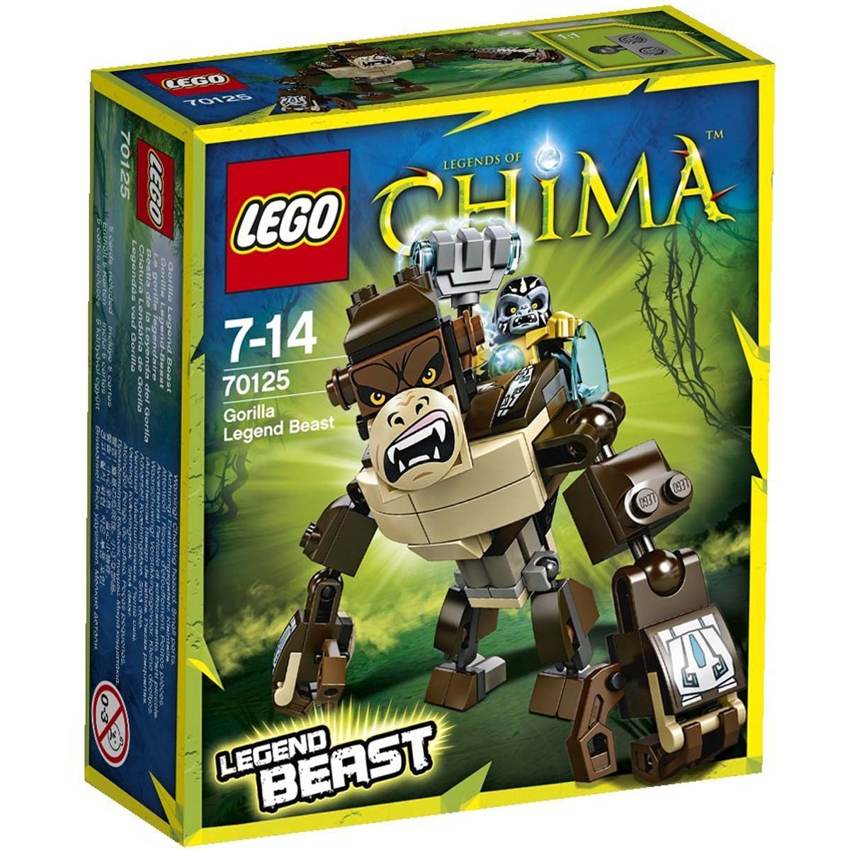Đồ chơi Lego Chima Gorilla Legend Beast 70125 – Khỉ đột huyền thoại