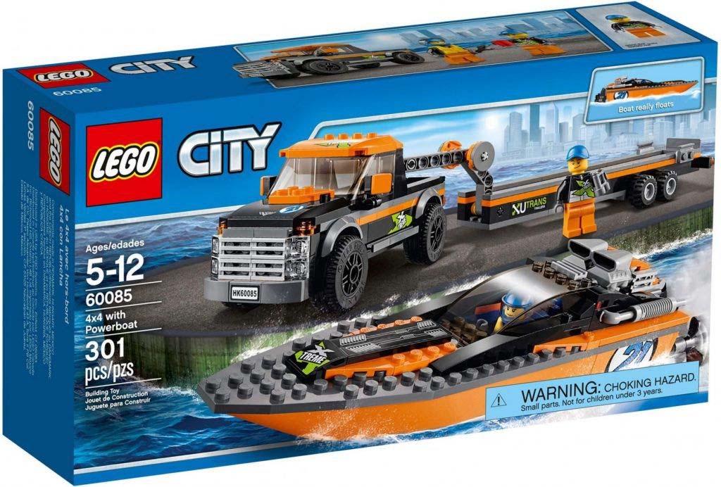 Đồ chơi Lego City with Powerboat 60085 – Xe kéo và ca nô